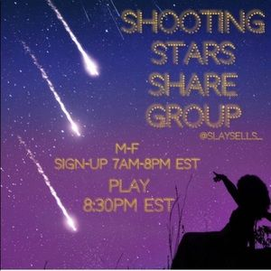 #11 ✨SHOOTING STARS SHARE GROUP✨